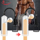 Beilile Enlargerment Penis Pump With Sleeve Penis Extender Pump Male Massage Masturbator Penis Trainer Adults Sex Toys for Men