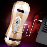 Male Masturbator Vibrator Real Vagina for Men Silicone Toy,Deep Throat Pussy Mouth Double Sex Toys for Adult Suck Man