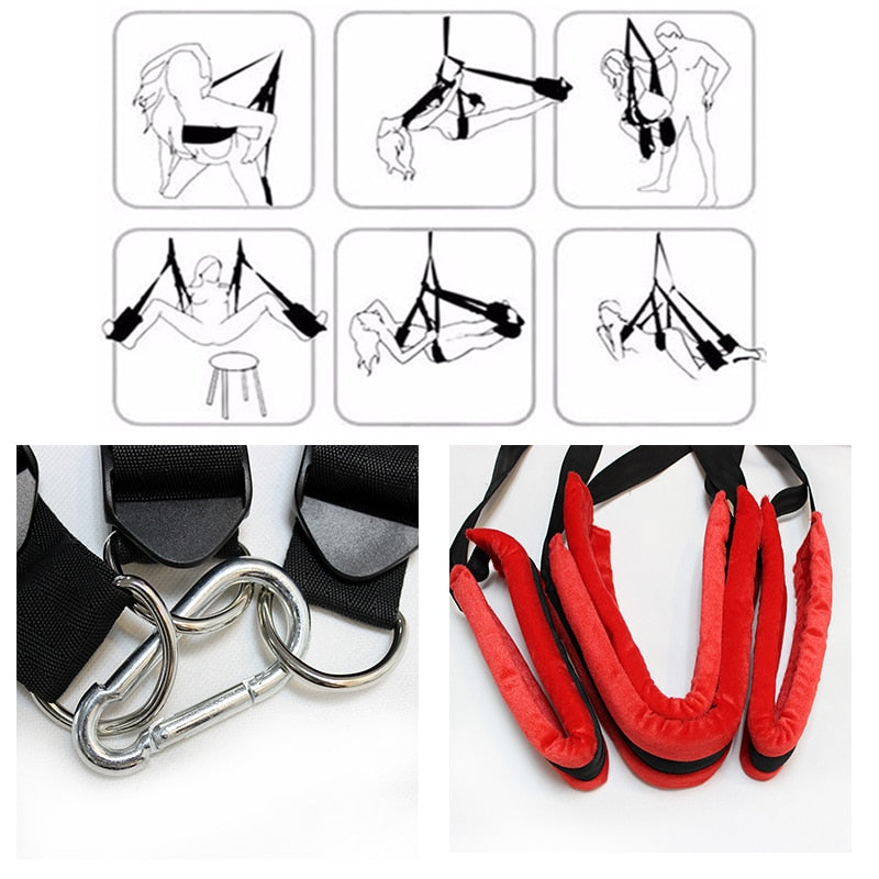 Sex Swing Soft Material Sex Furniture Fetish Bandage Love Adult game Chairs Hanging Door Swing Sex Erotic Toys for Couples