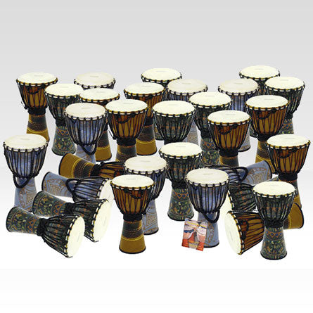 Bucara Fibreglass Large Djembe Pack - 30 Player