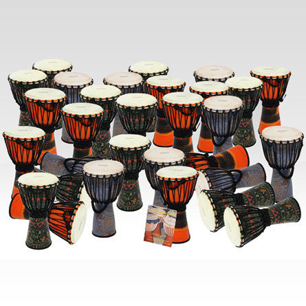 Bucara Fibreglass Small Djembe Pack - 30 Player