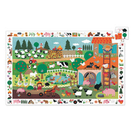 Djeco Observation Puzzle - the Farm - 35pcs