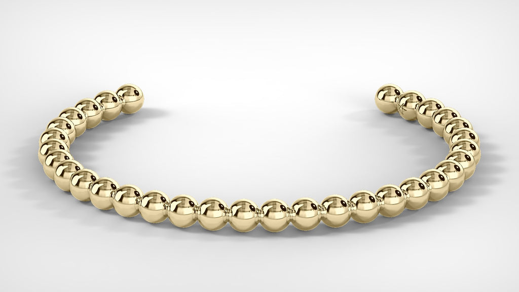Large Gold Bead Bracelet
