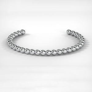 Men's Bead Bracelet in Silver
