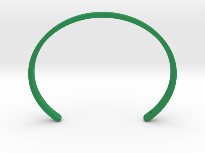 Green Plastic Simple Cuff Bracelet