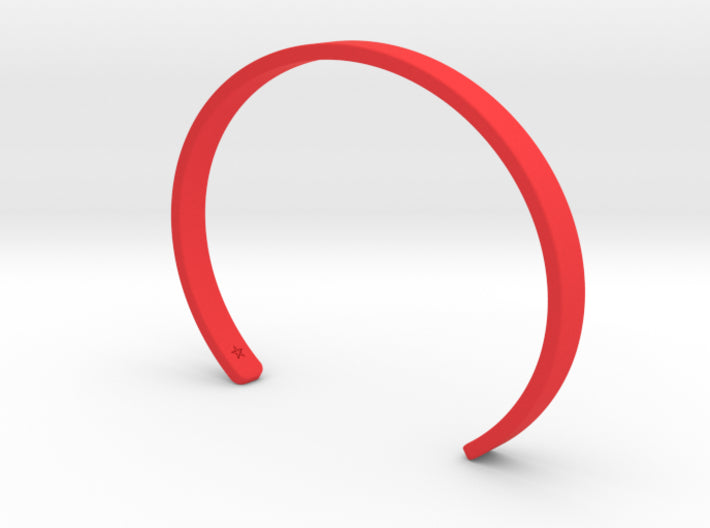 Red Plastic Simple Cuff Bracelet