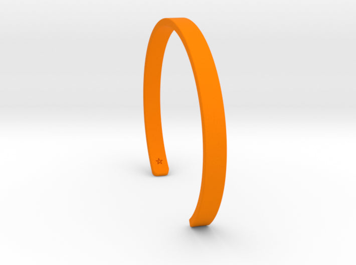 Orange Plastic Simple Cuff Bracelet