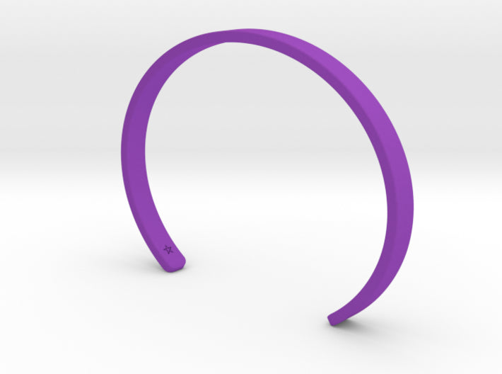 Purple Plastic Simple Cuff Bracelet