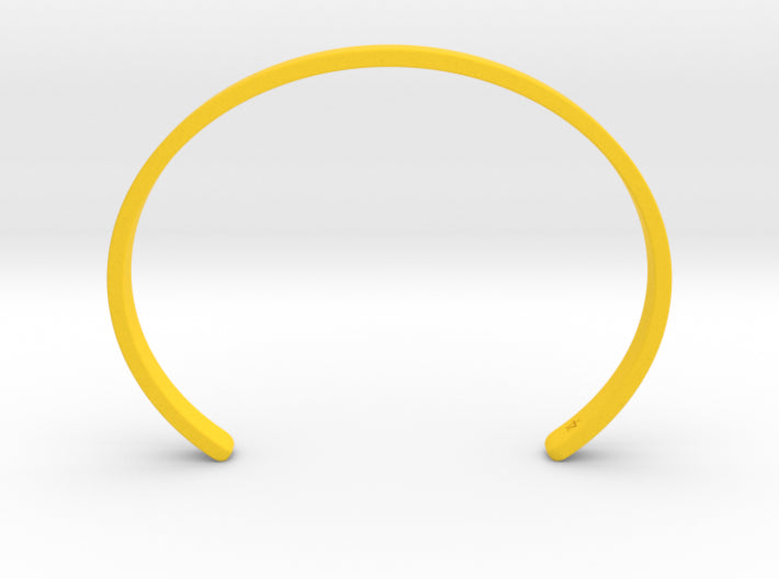 Yellow Plastic Simple Cuff Bracelet