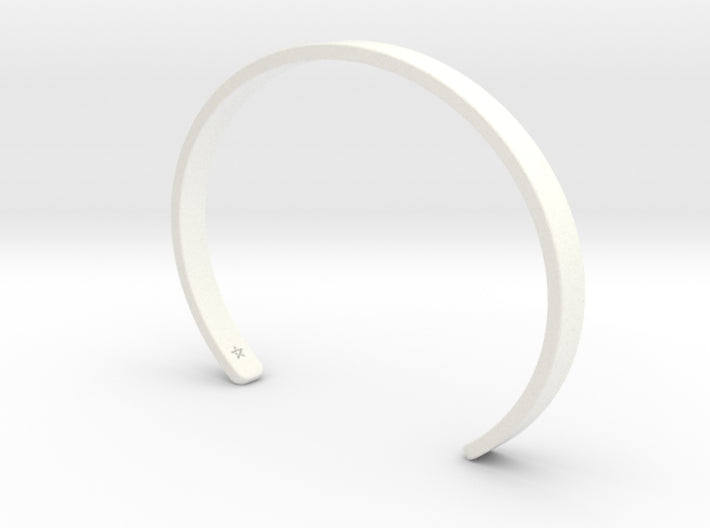 White Plastic Simple Cuff Bracelet
