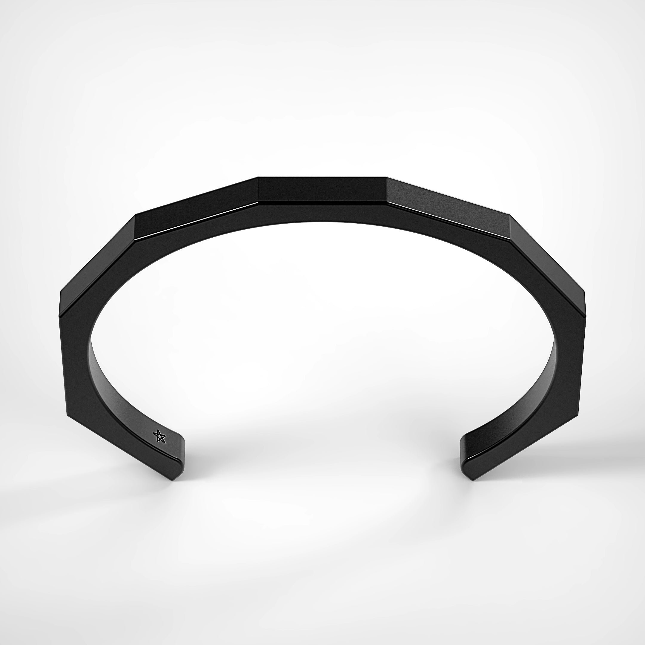 Octagon Cuff in Matte Black by Fine Relic