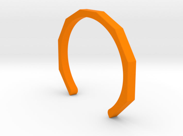 Orange Plastic Octagon Cuff Bracelet