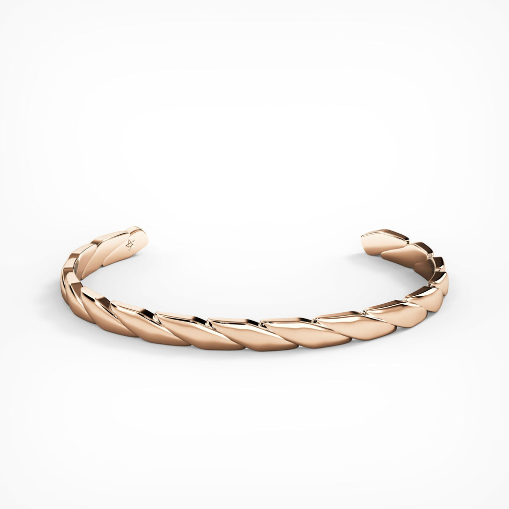 Rose Gold Classic Cuff by Fine Relic