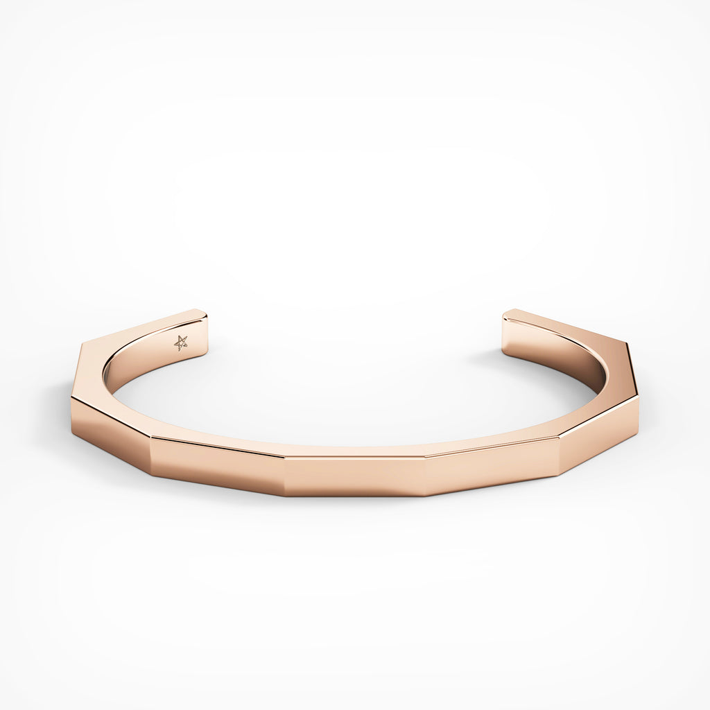Rose Gold Octagon Cuff by Fine Relic