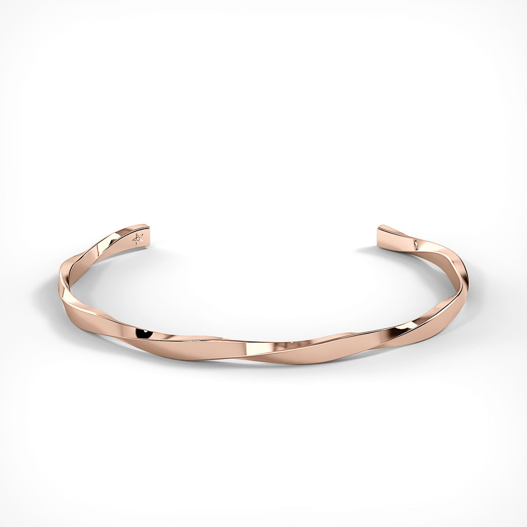 Rose Gold Spiral Bracelet by Fine Relic