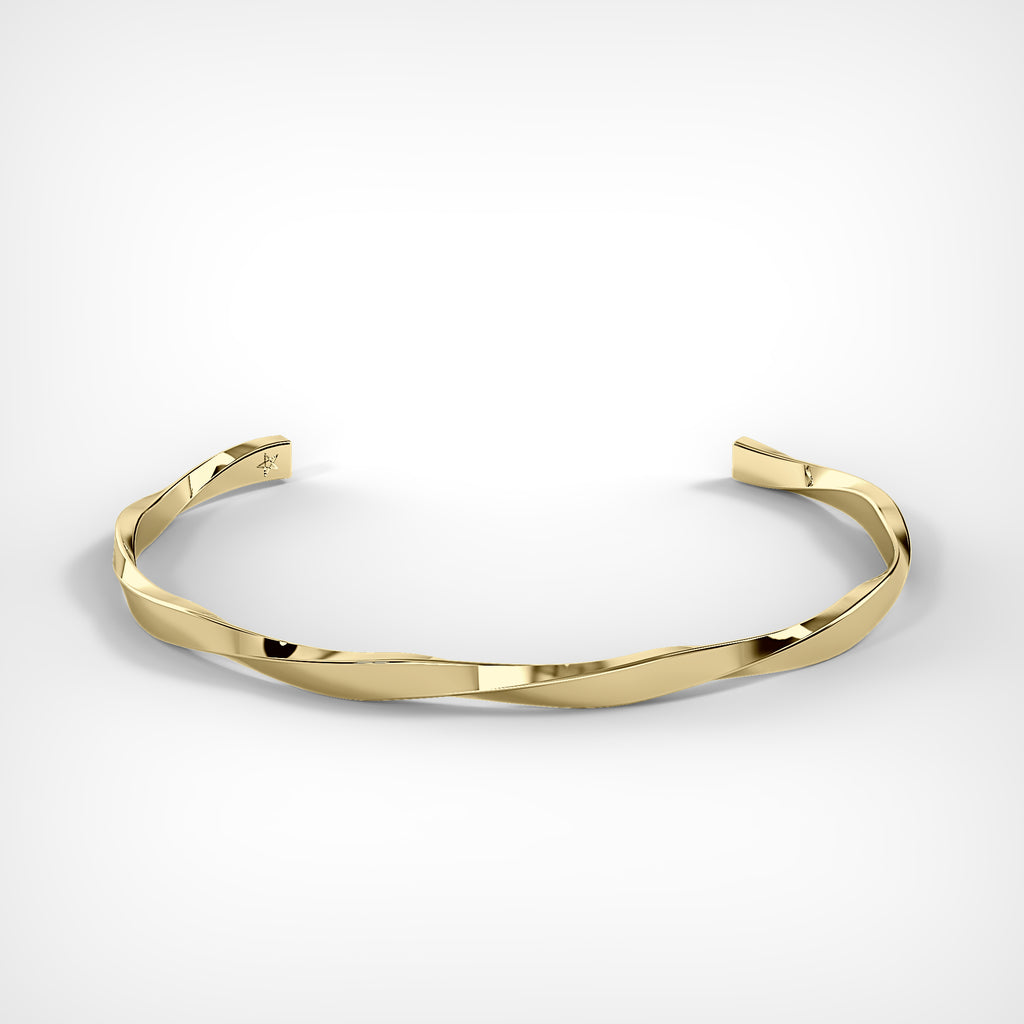 Gold Spiral Bracelet by Fine Relic