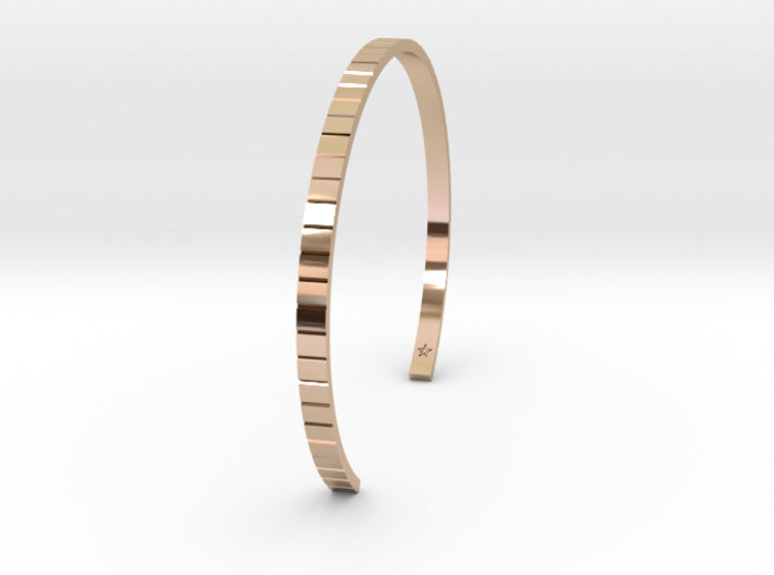 Rose Gold Square Cuff Bracelet