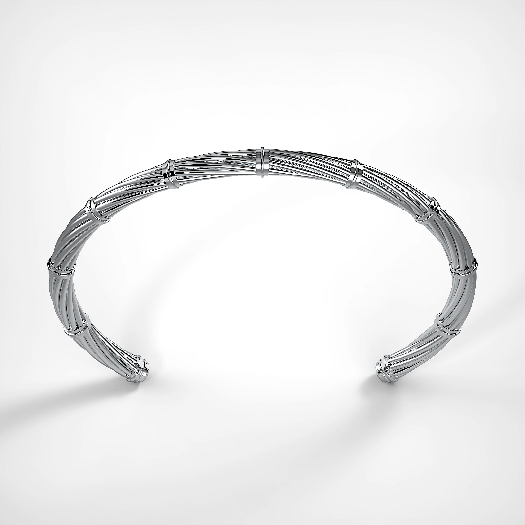 Silver Twisted Cuff by Fine Relic