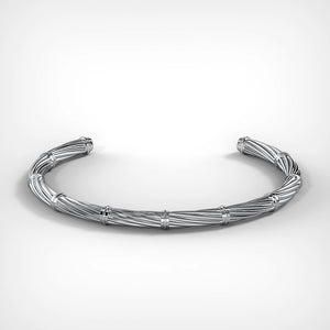 Twisted Silver Cuff by Fine Relic