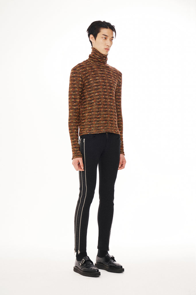 Turtleneck Knit Brown