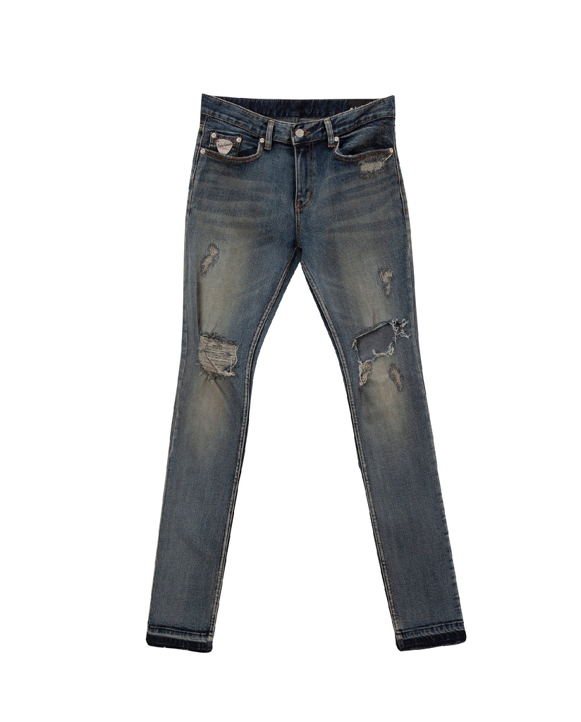 Jagger blue distressed jean