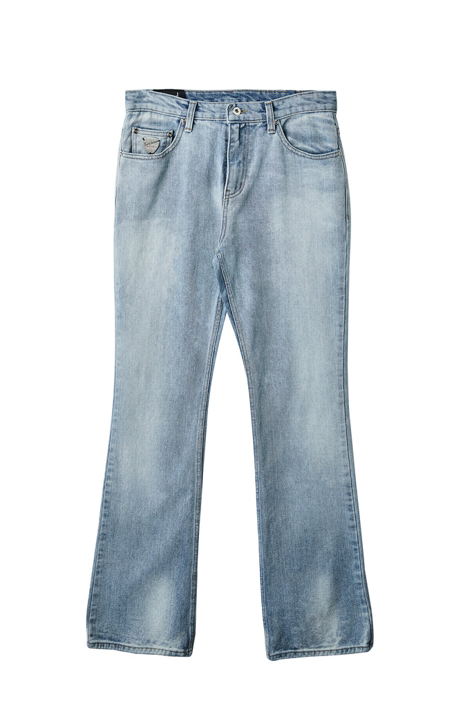 Blue Washed Boot-Cut Jean