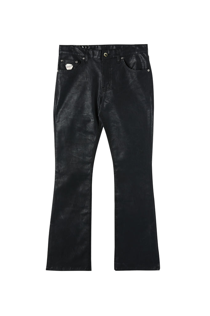 Black Coated Boot-Cut Jean