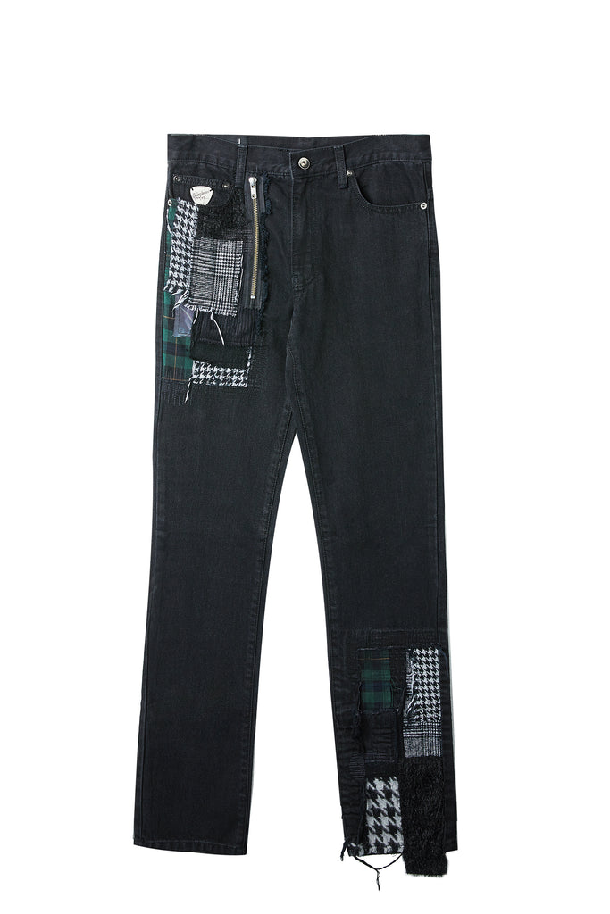 Patchwork Straight Jean 1