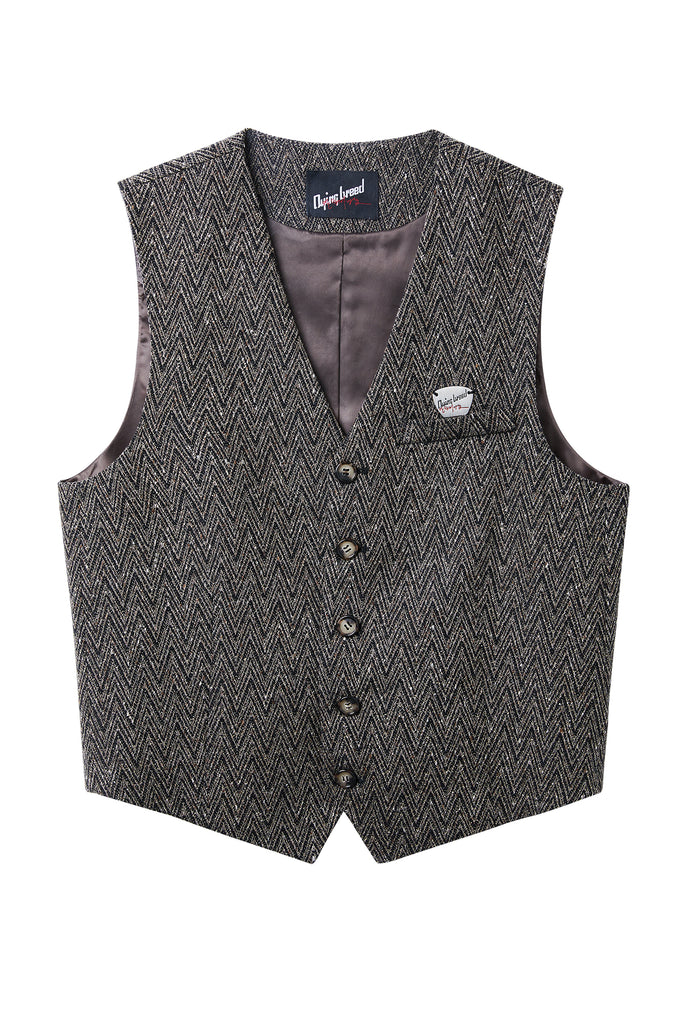 (Order made)Brown Wool Vest