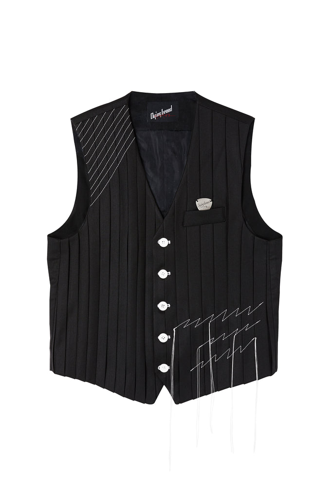 Embroidered Vest Black