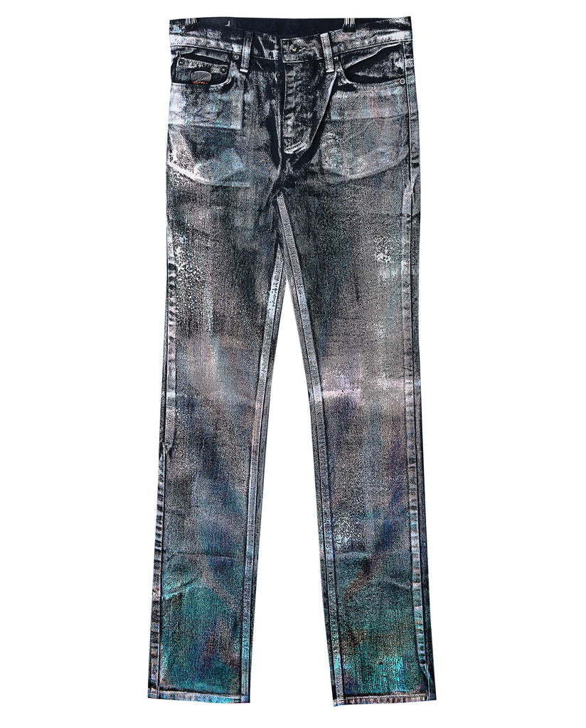 Holographic Black Straight Jean