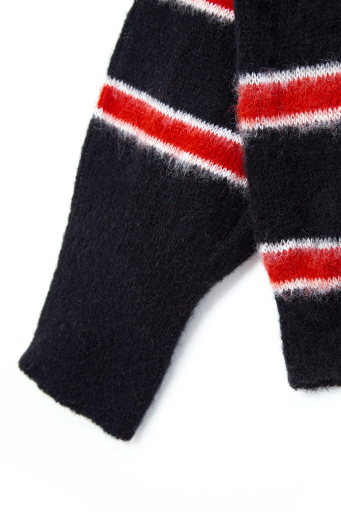 Mods Stripe Knit Black