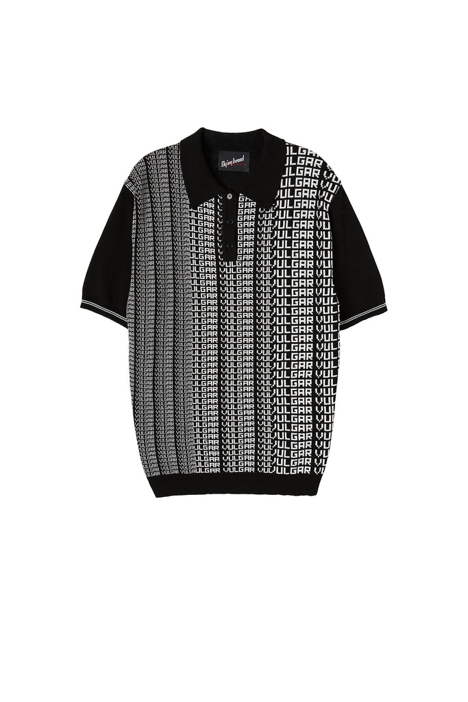 Vulgar Knit Polo Black