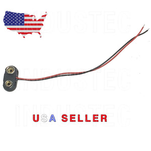 1 9V T Battery Clip/Volts/Connector/Snap On/Power/Leads 150mm/Adapter/Hard Shell