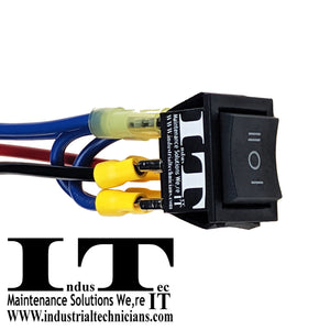 20 AMP Motor - Polarity Reversing Maintained Rocker Switch Control 12V With Wires I O II right