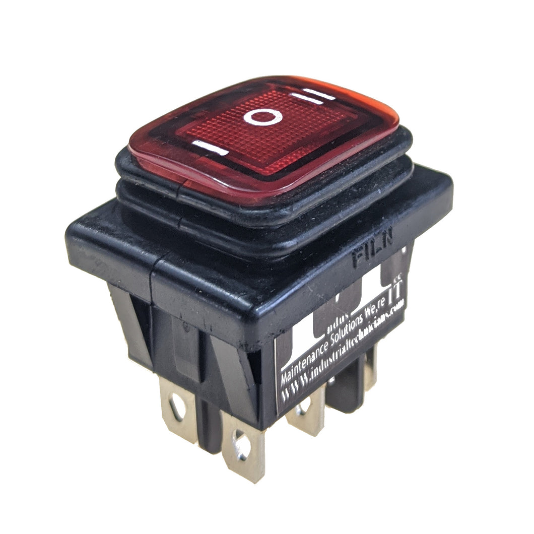 IndusTec DPDT 20A 6 - PIN (on) off (on) Momentary Rocker Waterproof 12V Outdoor