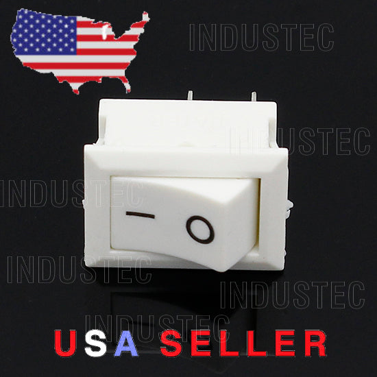 IndusTec mini 10 x 15mm - On/Off Rocker Switch 2 Pin Maintained 6A Boat Car 12V