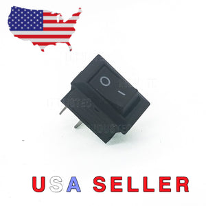Mini Rocker Switch SPST 2 Pin 6A angel