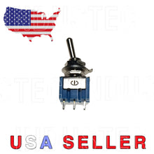Load image into Gallery viewer, IndusTec SPDT Mini Toggle Switch ON-ON Solder Lug USA Stock MTS-102 2 pos 24 12V