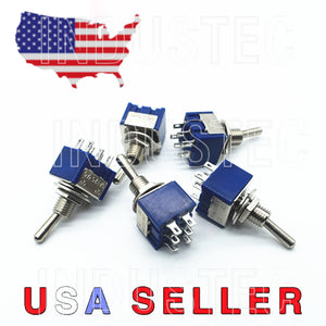 2 Position DPDT Mini Toggle Switch ON ON 6 Pins / Lug 125V AC 6A Guitar Project