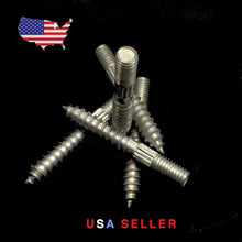 "Load image into Gallery viewer, 3/8""-16 TPI X 3"" Hanger - Bolt (Quantity of 1) Lag to Machine Thread Stud Zink"