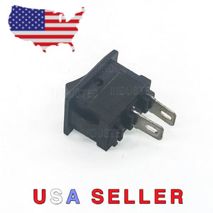 Mini Rocker Switch SPST 2 Pin 6A side