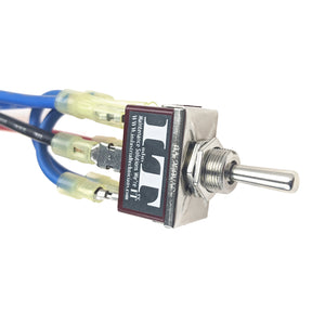 IndusTec 10 AMP Motor Polarity - Reversing Momentary Toggle Switch And Wires 10A right logo side