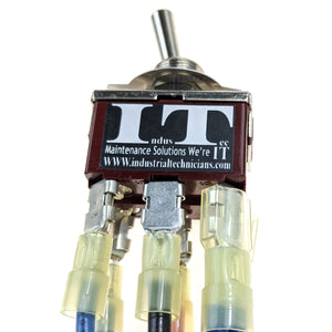 IndusTec Motor polarity reversing -Toggle Switch 3 Position Maintained 12V 24V