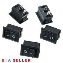 Load image into Gallery viewer, IndusTec SPST KCD1-101 - Rocker Switch 6A/250 V 1/2 X 3/4 cut out 2 pos 12V 24V