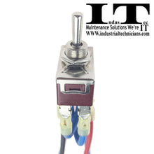 Load image into Gallery viewer, IndusTec 10 AMP Motor Polarity - Reversing Momentary Toggle Switch And Wires 10A end up