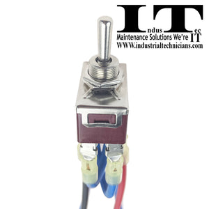 IndusTec 10 AMP Motor Polarity - Reversing Momentary Toggle Switch And Wires 10A end up