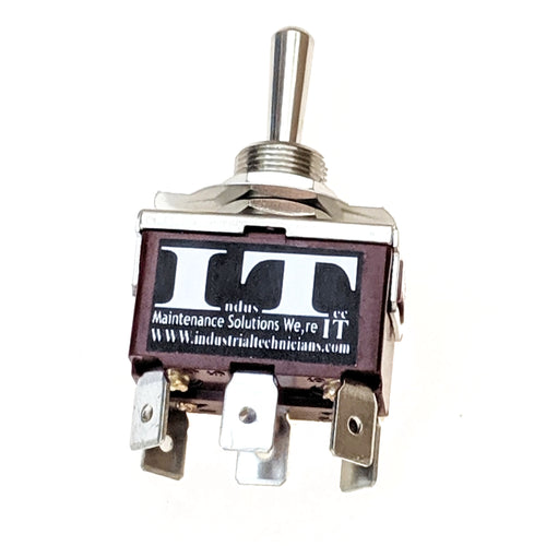 Heavy Duty 20 - AMP DPDT 6 1/4 PC pin Toggle Switch Momentary 3 Pos 12V