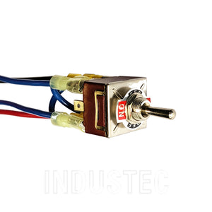 IndusTec DC Motor Polarity Reversing - Toggle Switch Maintained TPDT 12V 24V 3 Pos