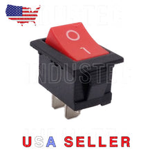 Load image into Gallery viewer, IndusTec Mini 10mm-15mm On/Off Rocker Switch 2 Pin 6A 250V SPST 12V 24V DC Boat